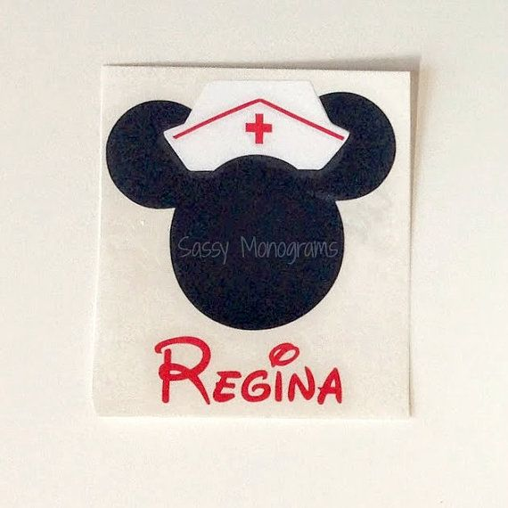 Nurse Minnie Mouse Personalized Monogram by SassyMonogramAndMore, $2.50