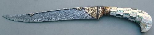 Sliver Inlay Dagger,DamascusBlank blades,Mini knives,knives-Damascus Arms Udaipur,Rajasthan,India