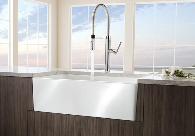 Buy The Blanco 441694 White Direct. Shop For The Blanco 441694 White Cerana  Farmhouse Kitchen Sink Apron Front Fireclay Sink With Single Basin And Save.