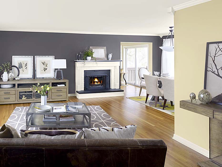 Awesome 20 How To Deal Living Room Colors With Black Furniture Is
