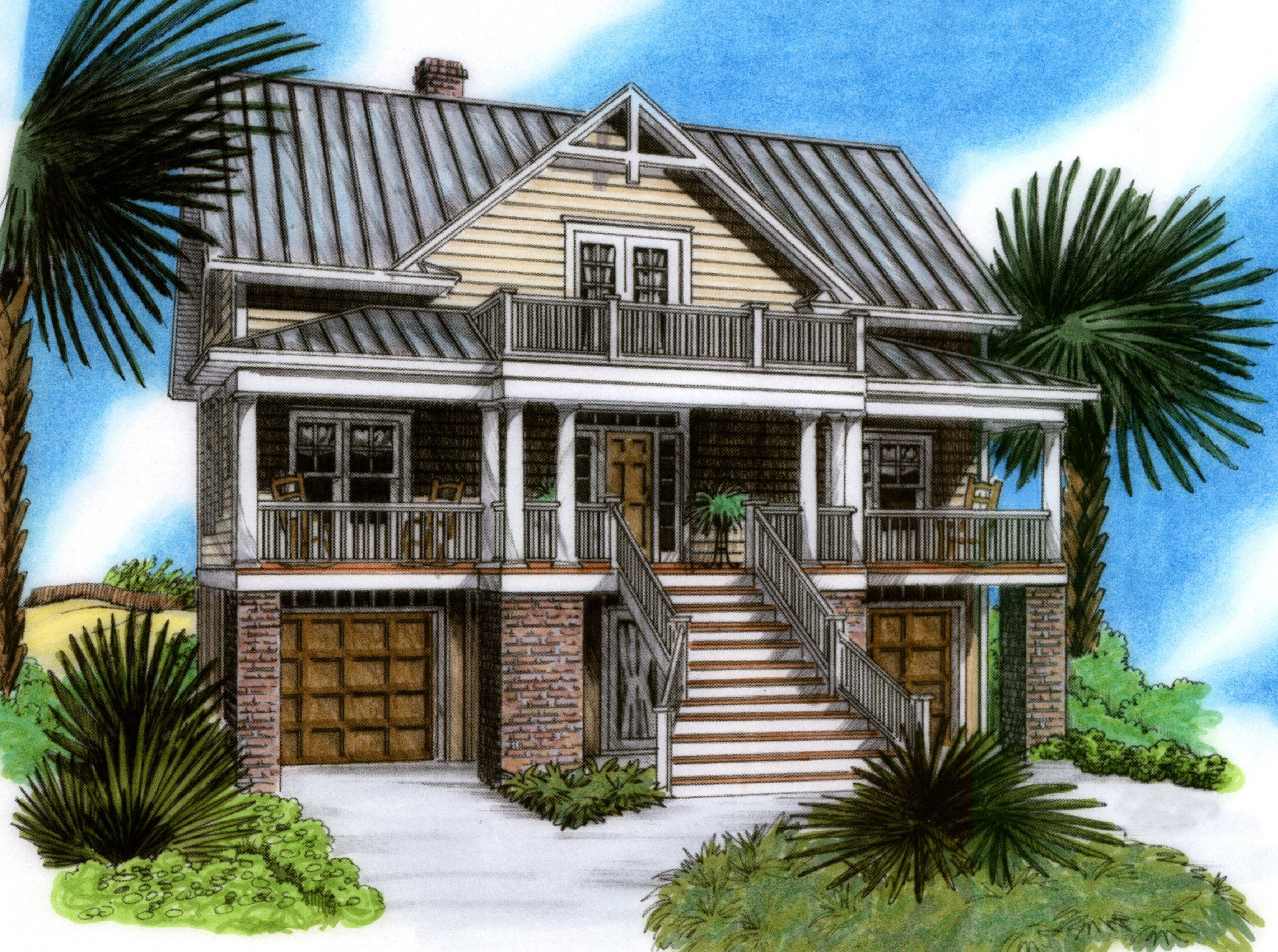 Plan 15019nc raised beach house delight raising country and beach - Summer house plans delight relaxation ...
