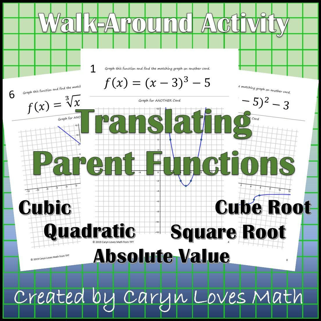 Graphing Parent Functions Using Translation Walk Around