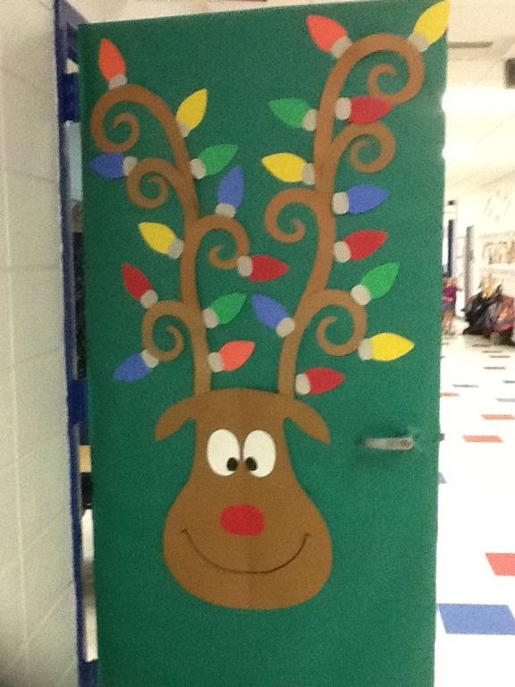 Classroom door decoration- rudolph the reindeer for christmas