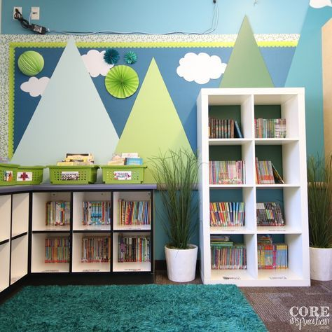 "Six Steps To An Organized Classroom Library is part of Reading corner classroom, Classroom library organization, Kids classroom, Classroom walls, Classroom interior, Classroom shelves - Organizing your classroom library carefully can boost reading engagement and foster a more calm and efficient learning environment  In this post, I am answering a question I get a lot  ""How do you …"
