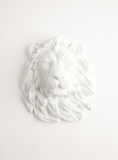 Faux Lion Head   Designer Lion Head Wall Sculptures http://www.whitefauxtaxidermy.com/ 94