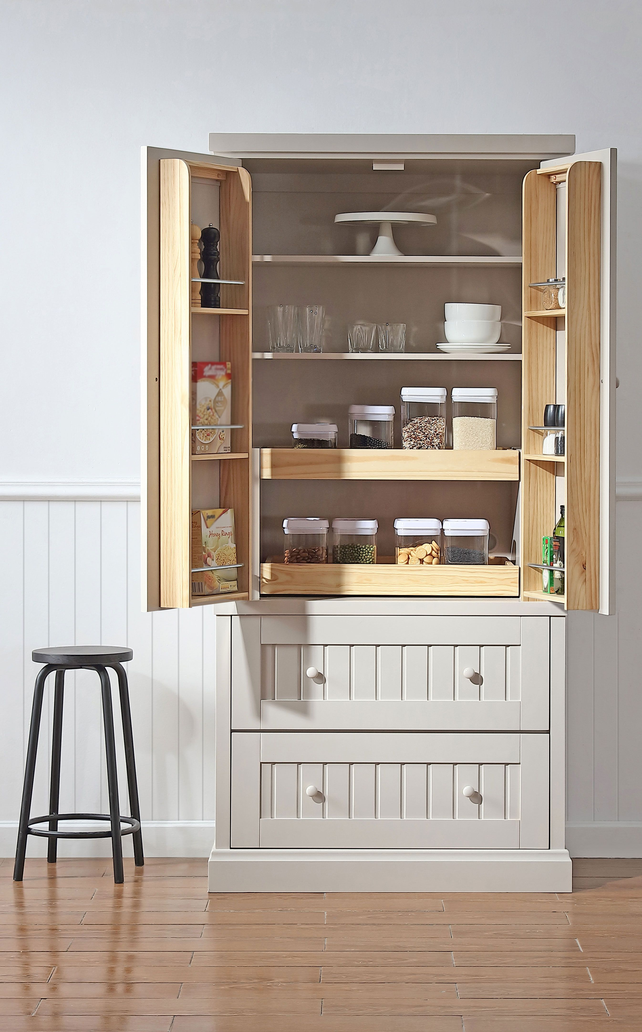 Create Extra Storage In Your Kitchen With The New Martha Stewart Living Free Standing Free Standing Pantry Kitchen Furniture Storage Stand Alone Kitchen Pantry