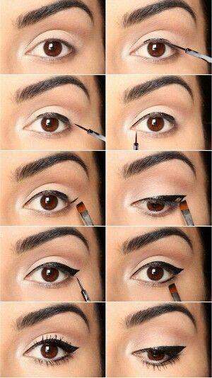 Les 8 Tapes De L 39 Application De L 39 Eye Liner Eye Liner Application De Et Maquillage