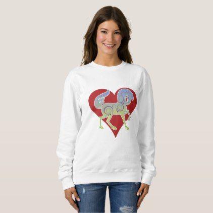 I Love Heart Noodles Ladies T-Shirt
