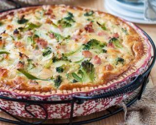 Quiche sans pâte allégée jambon et brocolis au chèvre : www.fourchette-et...