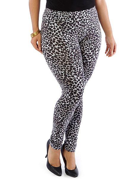 Plus-Size Leopard Leggings   Leggins   Pinterest   More Leopard ...