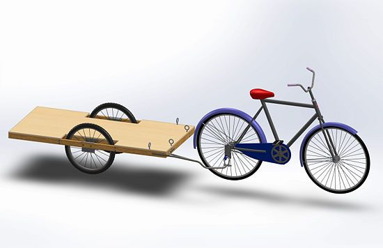 Build A Bicycle Cargo Trailer Bicycle Cargo Trailer Bicycle