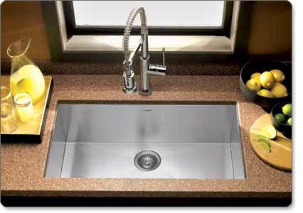Houzer Ctg3200 Contempo Large Zeroradius Undermount Kitchen Sink Endearing Undermount Kitchen Sink Design Decoration