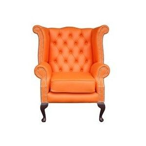 Perfect Elegant Chair For Home: Beautiful Orange Chesterfield Chair ~ Decoration  Inspiration