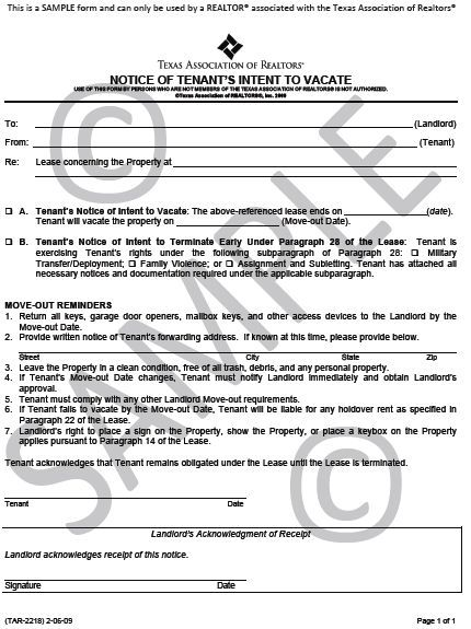 Printable Sample Eviction Notice Texas Form Real Estate Forms Room Rental Agreement Being A Landlord