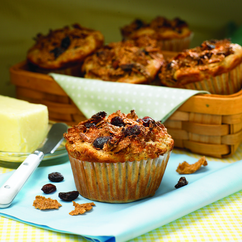 Combined with #applesauce and #cinnamon a popular #breakfast cereal helps you create the ultimate take-along #muffins to enjoy on the run.