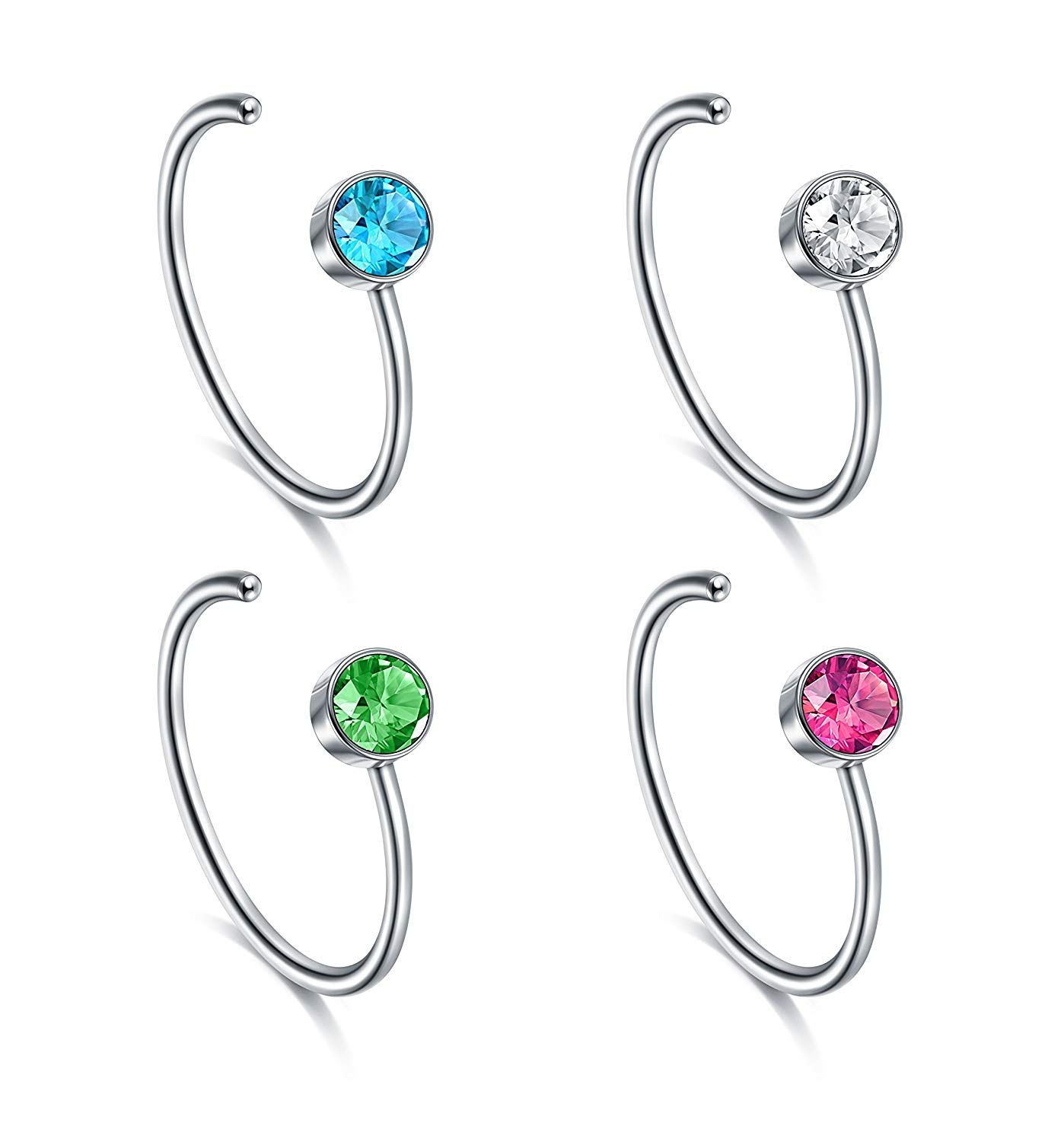 Crust around nose piercing  Fectas Nose Ring Hoop PCS G L Surgical Stainless Steel Body