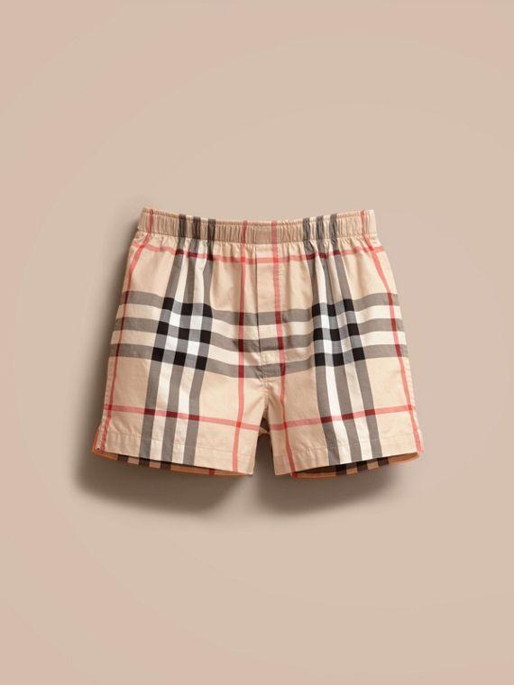 85f578c14785 Boxer en sergé de coton à motif check Nouveau Classique   Burberry ...