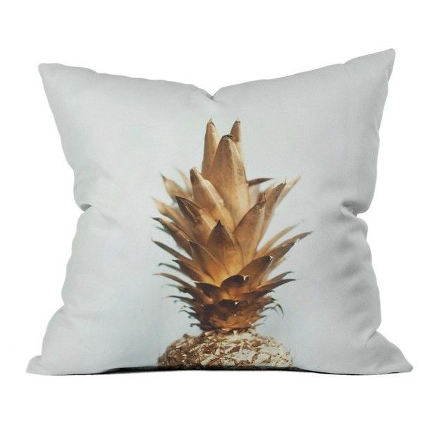 Deny Designs Gold Pineapple Pillow (€37) ❤ liked on Polyvore ...