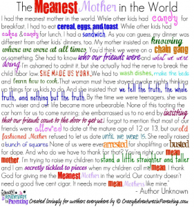 Mean Mom Poem Funny Pinterest Mom Poems Mom And Parenting