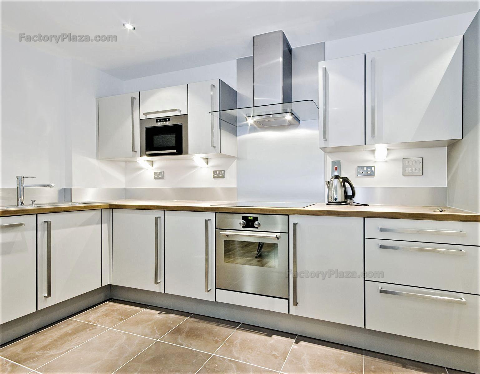 Kitchen Cabinets Flat Cabinets White Kitchen Marble Granite