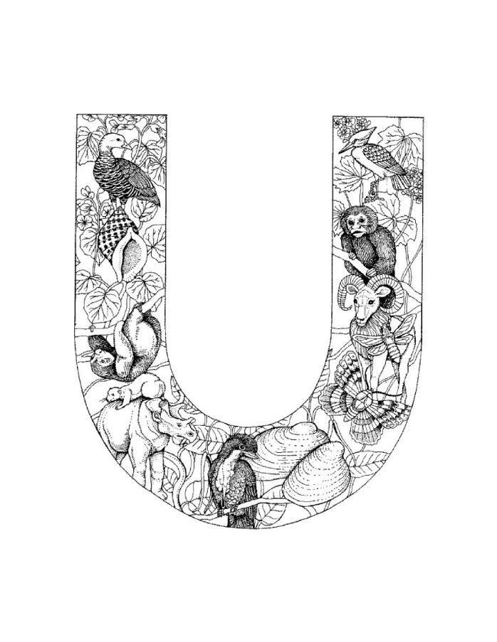 printable color letter | Alphabet | Pinterest | Dibujos zentangle ...