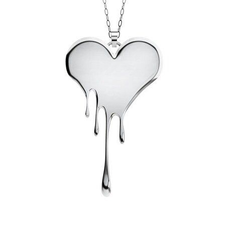 Edgy and Sweet Bleeding Heart Necklace - Lusasul Jewelry