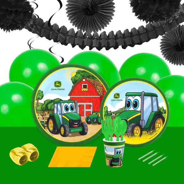 John Deere Johnny Tractor 16 Guest Party Pack Deco Kit | Wholesale ...