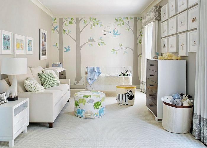 babyzimmer gestalten - neutrale farben passen für mädchen und ... - Kinderzimmer Farben Ideen Mdchen