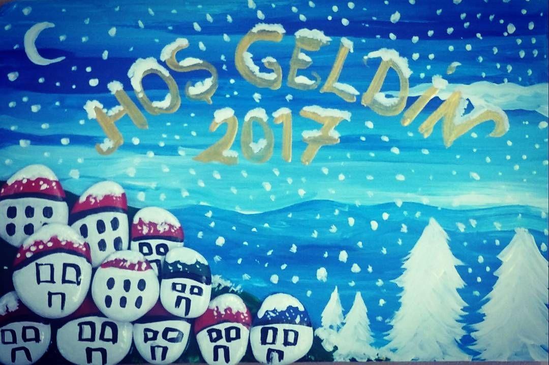 #kar #kartopu #tas #taşboyama #art #noelbaba  #yeniyil #evim #handmade  #hobby #samsunspor #sinop