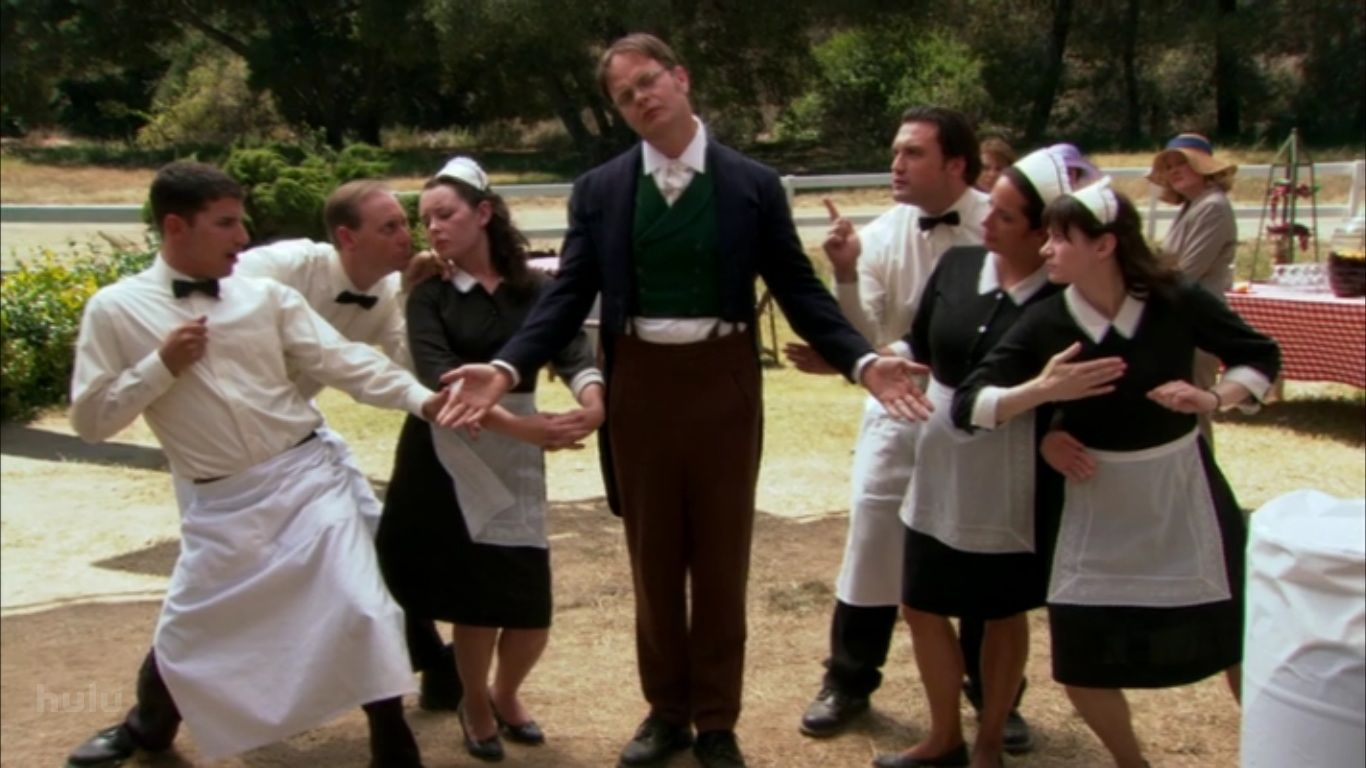 I D Love To Have A Dwight Led Garden Party At The Beet Farm The