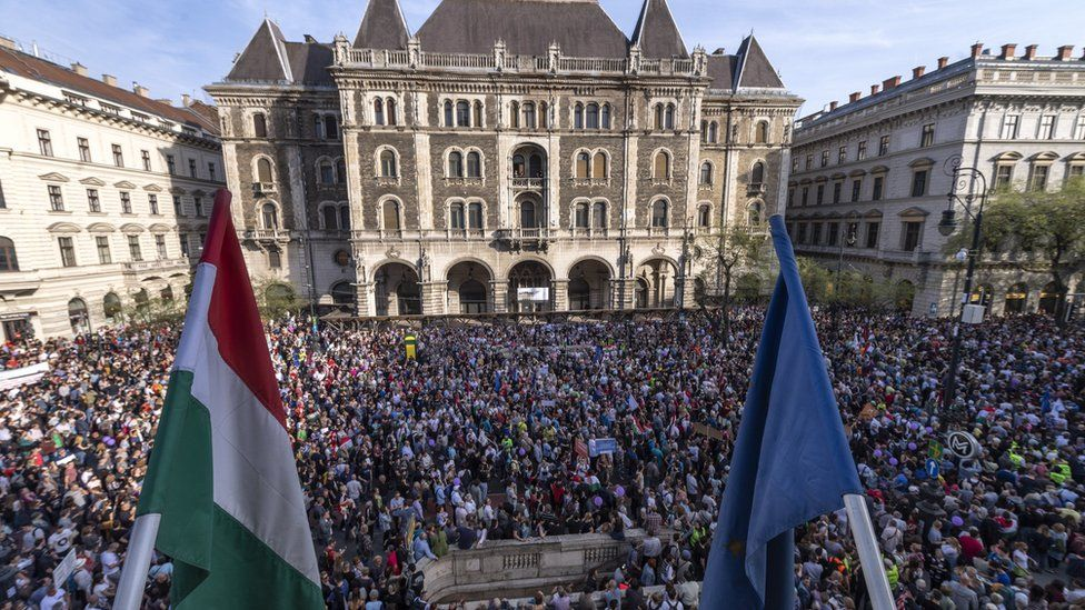 Hungary Tens Of Thousands March In Budapest Anti Orban Demo Budapest Hungary Photo