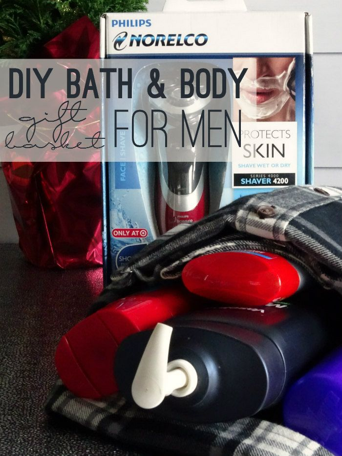 DIY Bath and Body Gift Basket for Men