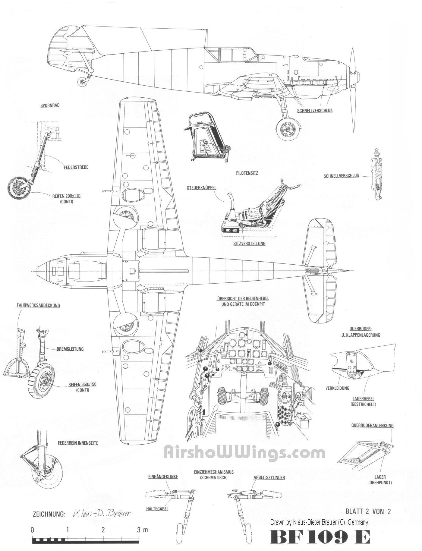 Aircraft Messerschmitt Bf 109e Smcars