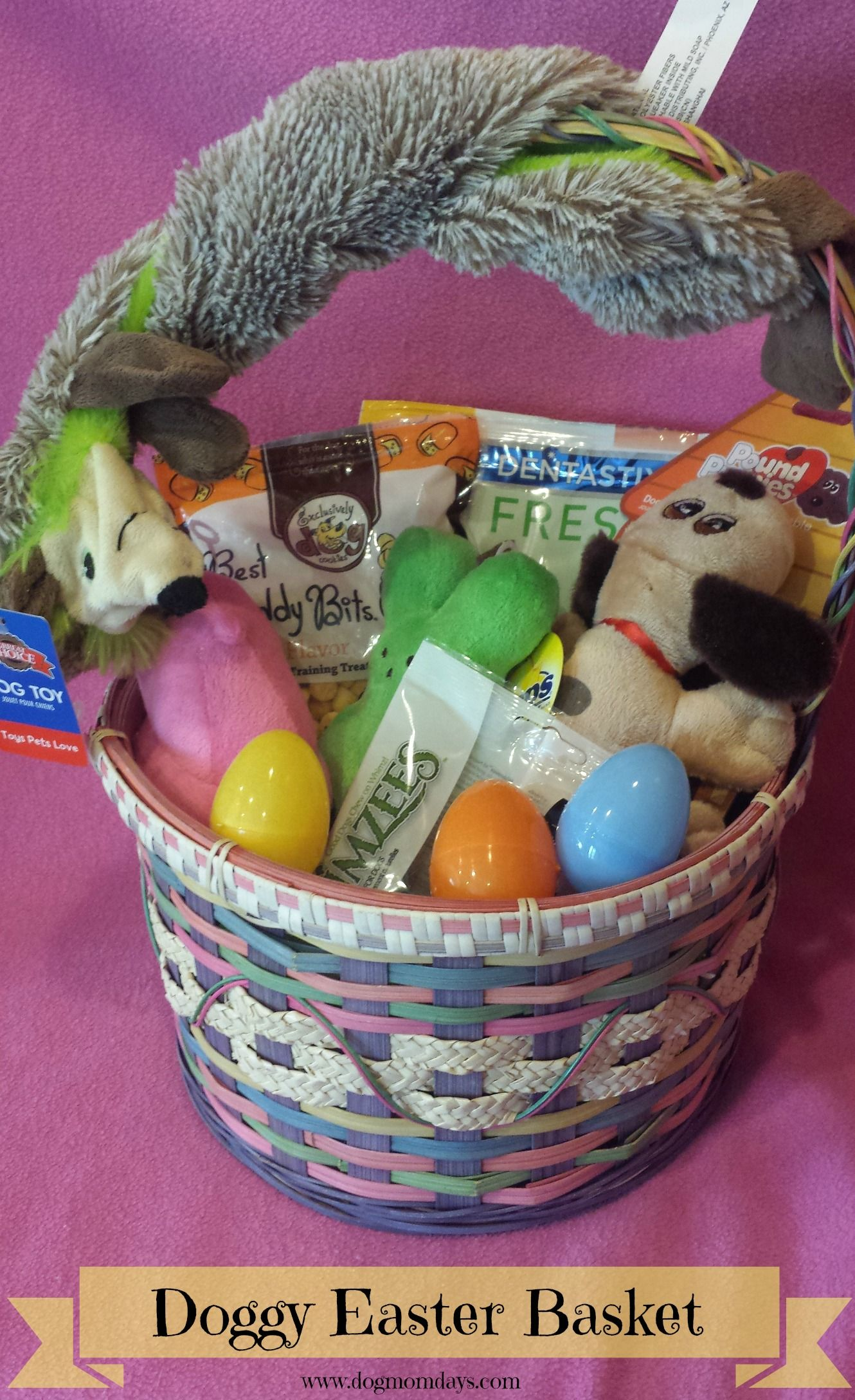 Put together the perfect easter basket for your dog httpwww celebrating easter with your dog here are some ideas for putting together a doggy easter basket for your special pup this holiday negle Images