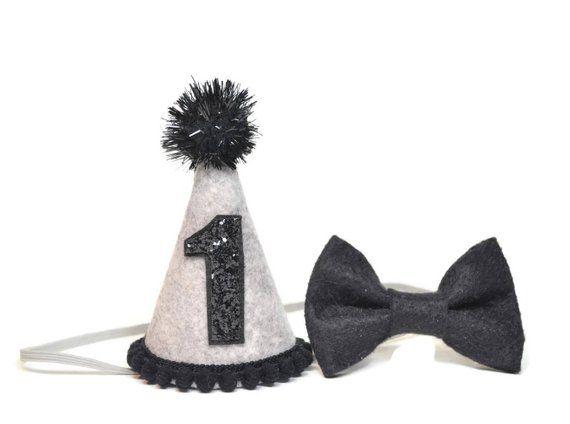 1st Birthday Boy Felt Hat And Bow Tie Set
