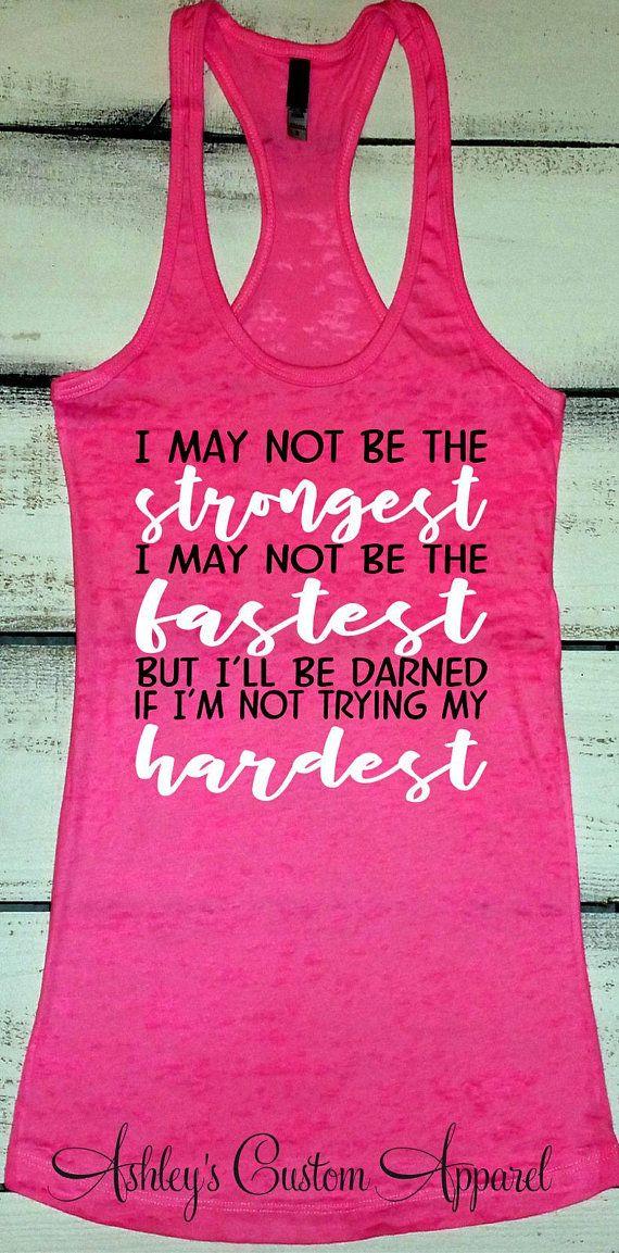 Inspirational Workout Tank, Running Tanks, Fitness Apparel, Motivational Fitness, Weight Loss Journey, Inspiring Gym Shirts, Strong Women #beachvacationclothes