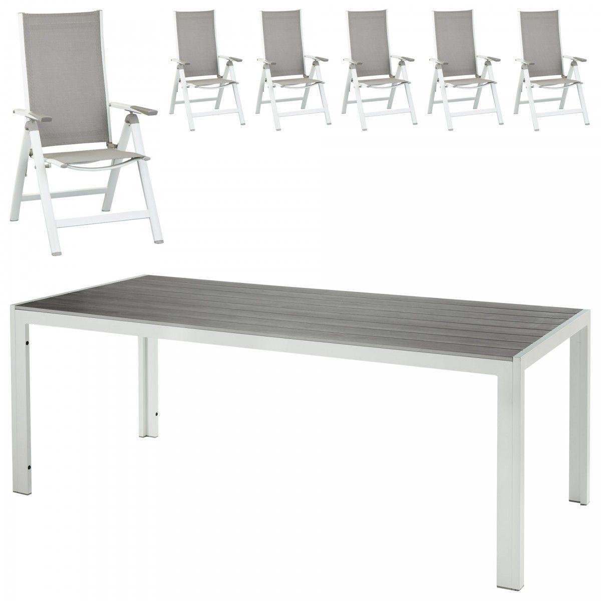 Gartenmöbel-Set Haiti (92x205, 6 5-Positionen-Stühle) | Haiti