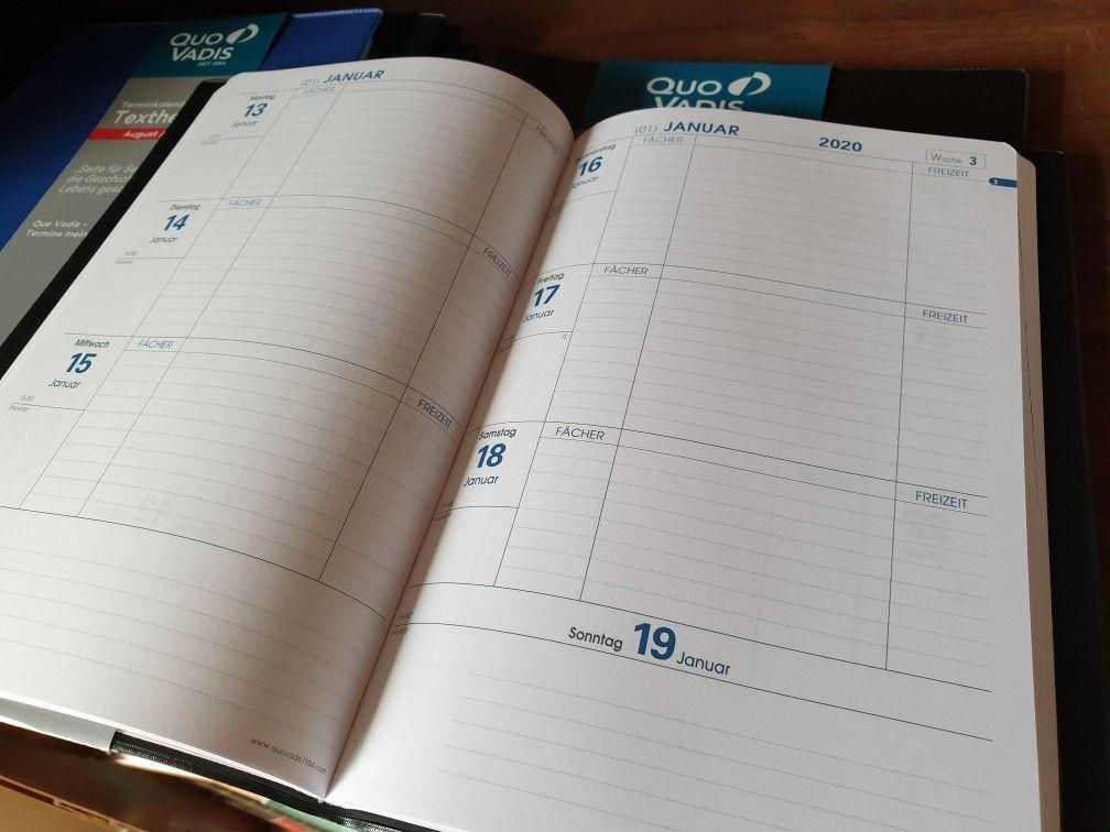 Quo Vadis Pre Prestige Note Kalender-Einlage 2020 21x27cm