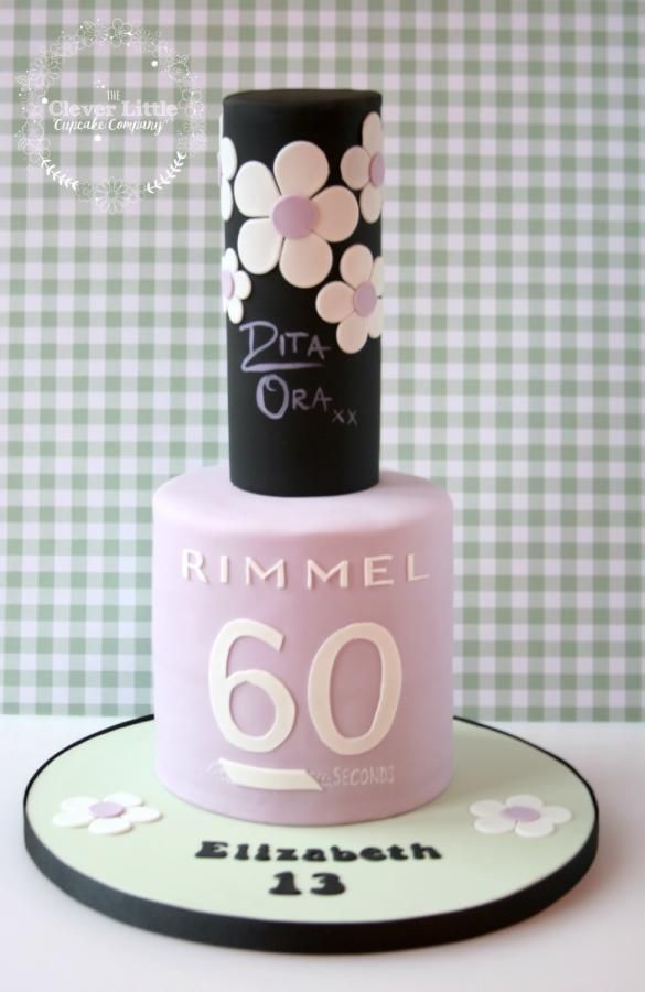 Nail Polish Cake by The Clever Little Cupcake Company