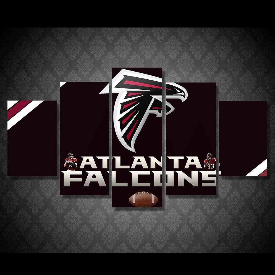 Atlanta Falcons Wall Art On Canvas Print Picture