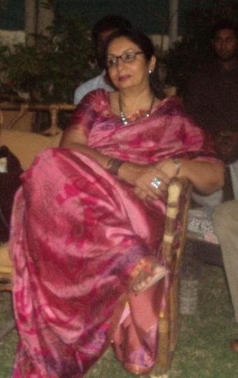a pink crepe saree