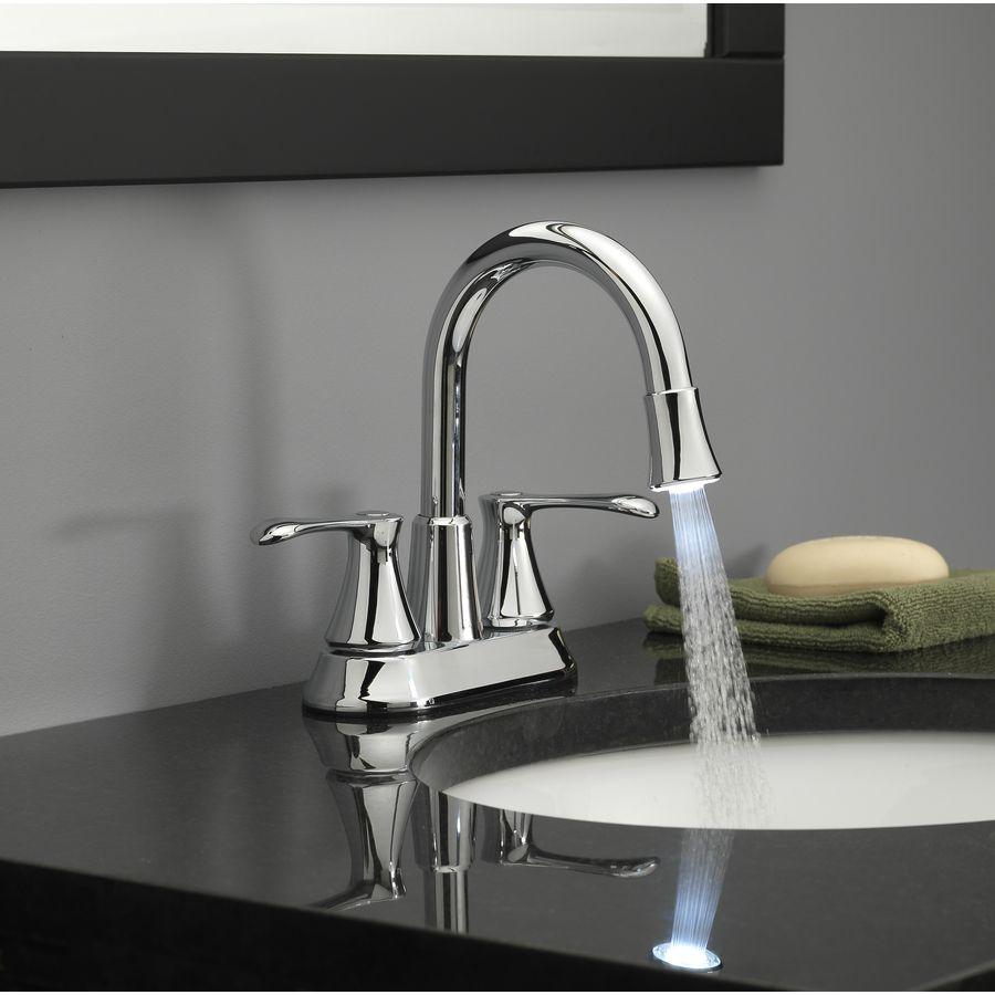 Homewerks Worldwide Led Aerator Chrome 2 Handle 4 In Centerset Watersense Bathroom Sink Faucet With Drain Lowes Com Bathroom Sink Faucets Bathroom Fixtures Modern Water Sense [ 900 x 900 Pixel ]