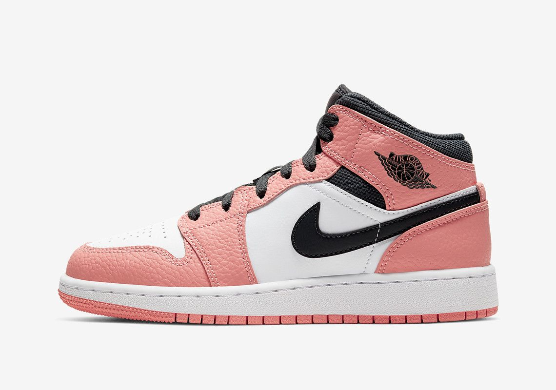 Air Jordan 1 Mid Pink Quartz Is Arriving Soon For Girls ...