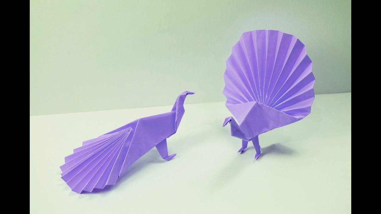 How To Make A Paper Peacock Youtube Origami Projects Do Diagram