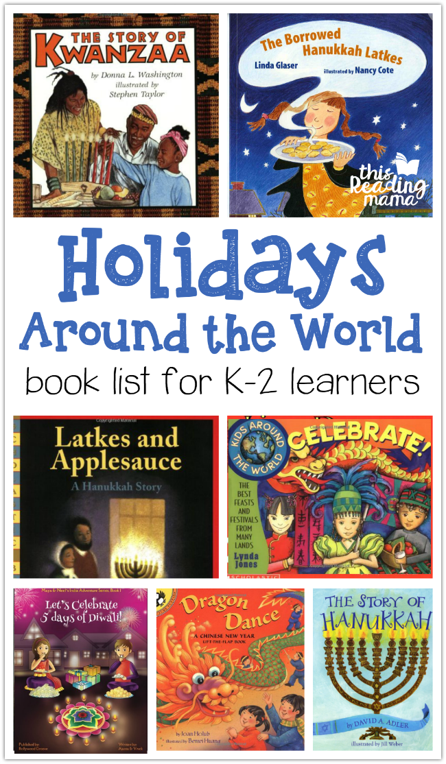 Holidays Around the World Book List for K2 Learners in