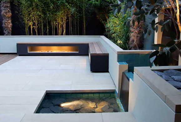 Terrassengestaltung mit Wasser | Garten | Pinterest ...