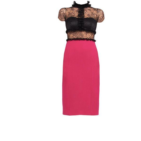 Chantilly Lace and Crepe dress — MONIKA CSUTAK found on Polyvore, Fashion