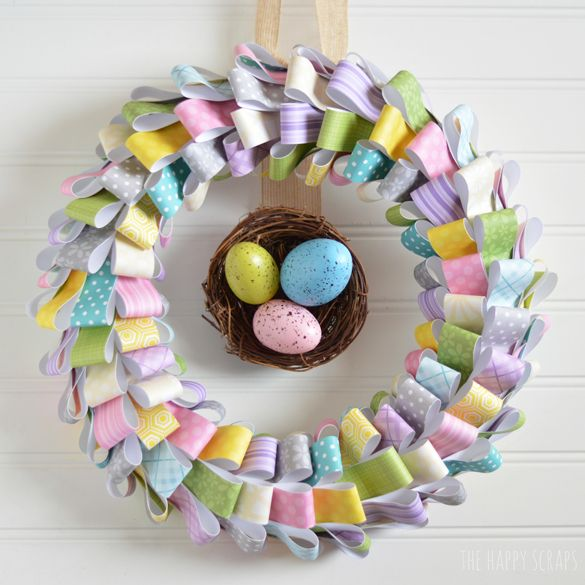 Photo of Paper Easter Wreath Tutorial – The Happy Scraps
