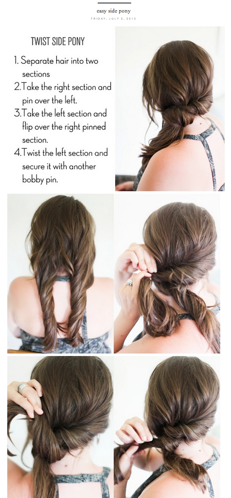 Simple Hairstyles For Medium Hair 11 Diy Hairstyles For Any Occasion 14 Photos  Makeup Hair