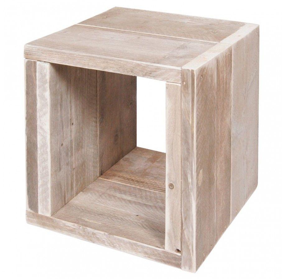 Trendhopper nachtkastje durk steigerhout kastje for Woonboulevard wolvega